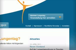 Webportal des Deutschen Lungentag